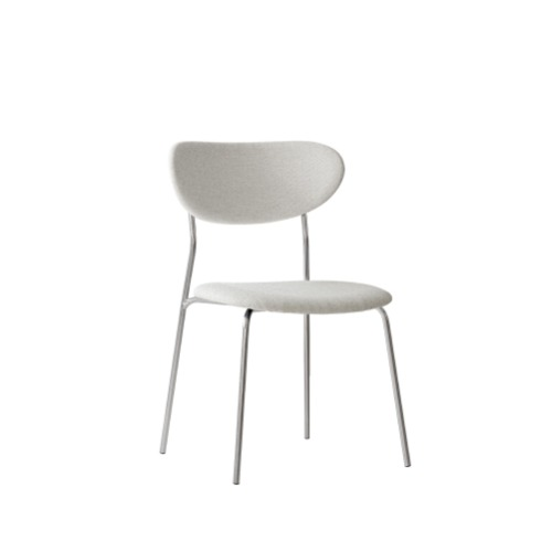 VOLINI FABRIC CHAIR STAINLESS